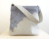 Soft French Lace Bag with Zipper Closure