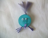quilled fish fridge magnet