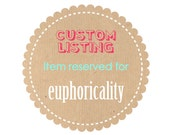 Reserved listing for euphoricality