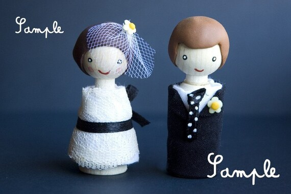 Personalized wedding dolls - cake topper