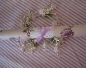 Vintage Wall Paper Mini Roll Large Purple Roses