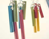 Windchime earrings - bright colors