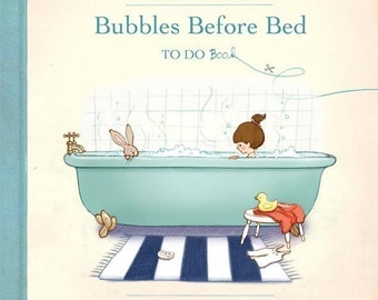 colouring book, craft book, to do book, activity book, vintage illustration, Bubbles Before Bed Book