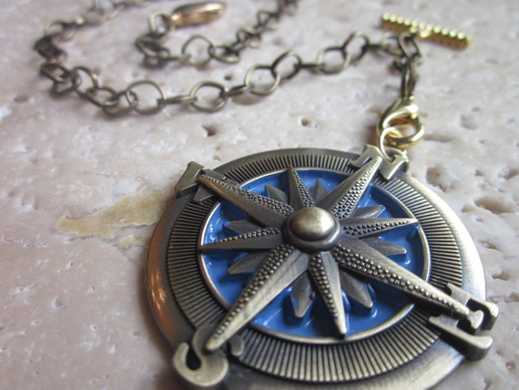 Pocket Watch Chain with Compass Rose