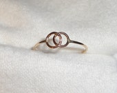 Interlocking rings of Friendship eternity endless Love -  recycled 14k gold filled - Size 5, 6, 7, 8 couples