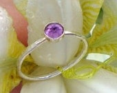 Ring Amethyst Purple Maiden -  sterling silver from recycled sources  - Custom Made in your Size
