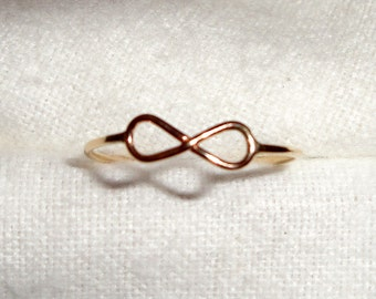 Infinity Ring -  14k gold filled from Eco friendly source - Size 5, 6, 7