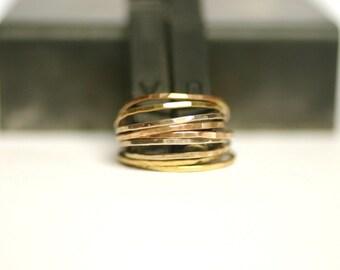 14k gold stacking ring, skinny stacking ring, thin gold band, anniversary gift, skinny gold ring, skinny gold ring, gold stacking ring