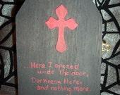 Raven Altered Art Box POE Poetry Mixed Media