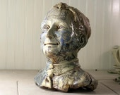 Figurative Sculpture of a Man - Hello Friday - by Keith Phillips