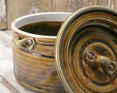 Queso Pot - Temmoku Gold