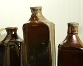 Three Large Ceramic Bottles - Wood Fired
