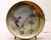Salad Plate - Bird Drawing - Sparrow