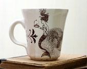 Coffee Mug - Mermaid Drawing