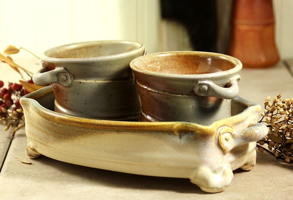 Condiment Tray with Small Bowls