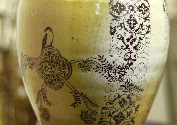 Wine Cup - Bird Drawing