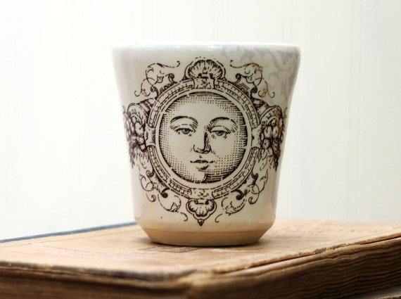 Shot Glass or Small Cup or Little Cup - Moon Face