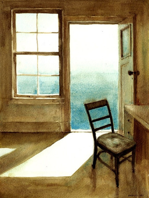 Open Door original watercolor