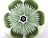 Polymer clay green flower cane