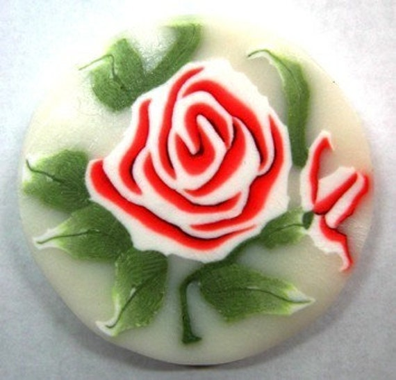 Polymer clay shy rose cane