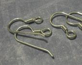 Destashing SALE 30% off: 2 pairs  (4 pcs) Sterling Silver ear wires - 20 gauge