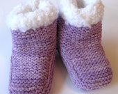 SNUGGS (c) - Suede Knit Baby Bootees  - PURPLE