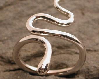 Snake Ring Modern Bohemian Ring Sterling Silver Ring Boho Jewelry by Susan SARANTOS