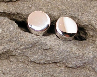 4mm Round Silver Studs Simple Post Earrings Sterling Silver Jewelry by SARANTOS