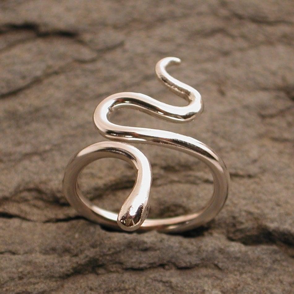 snake rings silver