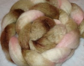 Kitten Kisses blue faced leicester (bfl) roving 4 ounces