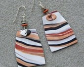 Bold Striped Polymer Clay earrings