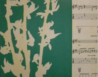 Sing Life-Original Monotype Mixed Media