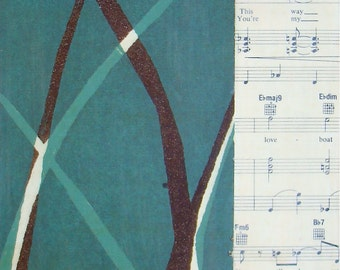 Singing on the Side-Original Mixed Media Painting