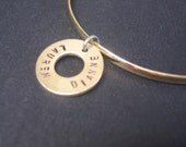 Sassy Brassy - Golden Bangle Charm - Name Bracelet