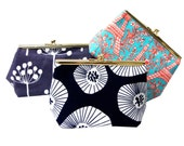 The Ling: Beautiful Snap Frame Clutch / Purse - Choose your own fabric