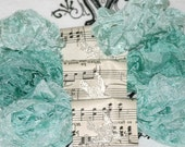 Seam Binding - Crinkled  - Vintage Style Ribbon - Serene Waters  - Aquas  - Blues - Turquoise  - 18 YARDS