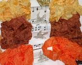 Seam Binding , FALL LEAVES , 18 YARDS ,  orange ,  rust , gold