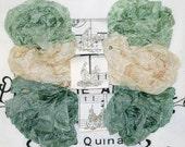 Crinkle Ribbon , Seam Binding ,  18 yds  , PASTORAL ,  Sage Ribbon,  greens ,  Light Beige Ribbon , Medium Sage Ribbon , Card Making