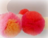 Peony Puff Party Pack Of TEN In Pink, Red and Corals by Whimsy Wendy