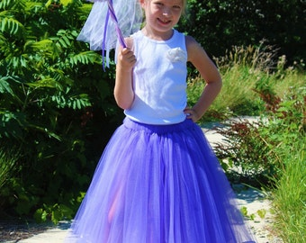 Princess Costume Tutu Set in Royal Purple Pretty with Hat and Wand