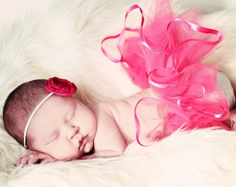 CHOOSE YOUR COLOR Newborn Baby Girl Tutu by Whimsy Wendy