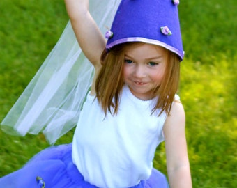 Princess Hat and Wand Set for Princess Costume by Whimsy Wendy