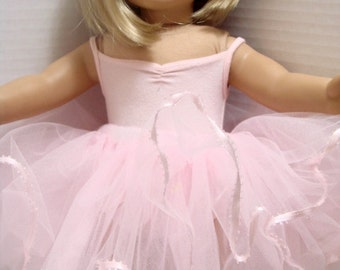 Made To Order, Light Pink Doll or Stuffed Animal Tutu with Ribbon Trim