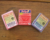 3 Polymer Clay Blocks - Sculpey Brand, Dusty Rose, Red Hot Red, and Purple