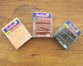 3 Polymer Clay Blocks - Sculpey Brand, Copper, Chocolate, Black