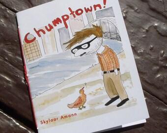 Chumptown Color Comic Zine about Portland, handbound