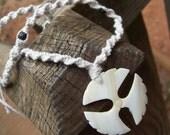 unisex cotton twist flying disc necklace