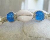 sea shell hemp anklet or bracelet
