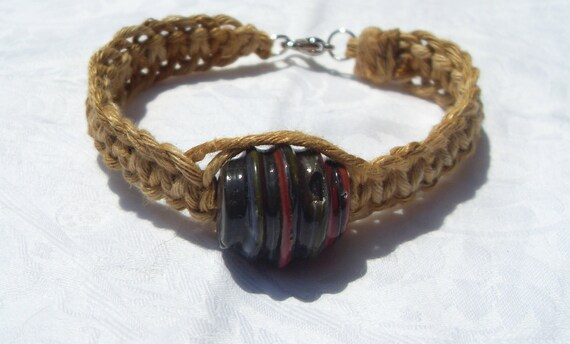 variegated thick unisex hemp bracelet
