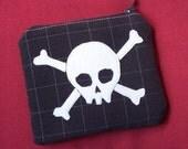little zip pouch -- jolly roger